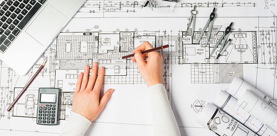 Hur sker arbetsprocessen hos en arkitektbyrå?